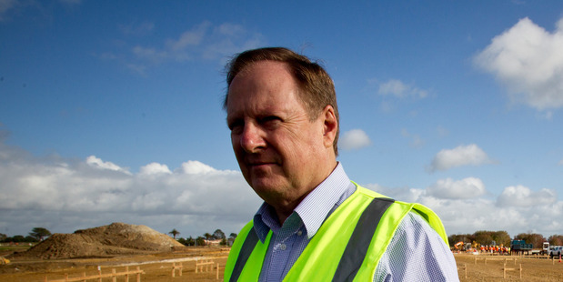 Chris Aiken at Hobsonville Point where dwelling numbers planned have doubled. Photo/ Dean Purcell