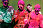 Rock band the Red Hot Chili Peppers includes Chad Smith, Anthony Kiedis, Josh Klinghoffer and Flea.