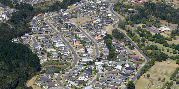 An aerial view of Rosedale. Auckland Transport is looking into a new bus station and a park and ride facility in the area. Photo: Chris Gorman