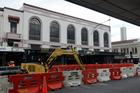 Upgrades to Napier's CBD continue. Drainage works (pictured) were under way last month. Photograph by Paul Taylor.