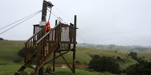 Flying fox at the AE Fun Park where Moses Tohu fell to his death. Photo / Michael Cunningham