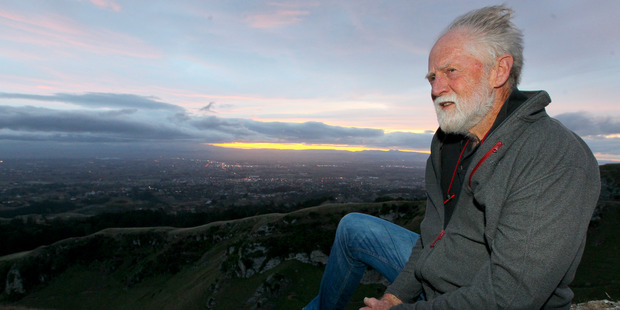 Mike Lusk leads a group of conservation volunteers  in Te Mata Park. Photo / Warren Buckland
