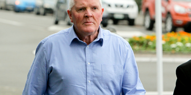 CHARGED:  Gary Bruce McCurrach outside Hastings District Court yesterday morning. PHOTO/WARREN BUCKLAND