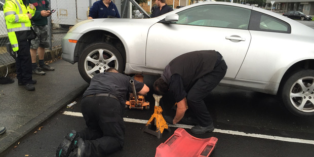 Loading Staff from Westech Automotive search for a kitten in the engine of this car.