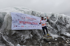 HERE WE GO: Chris Douglas stands at the starting line for the Tenzing Hillary Everest Marathon. PHOTOS/SUPPLIED