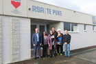Te Puke MP and Trade Minister Todd McClay, Deborah Nicol, Judy Abrahams, Jeff Orr, Sue and Roger Wilks checked out the former Te Puke RSA building as a possible homeless shelter.
