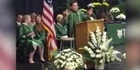 Watch: Watch: Student mocks Donald Trump in graduation speech