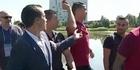 Watch: Ronaldo throws reporter's mic into lake