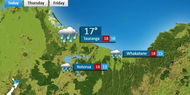 Tauranga forecast today. Photo/Supplied