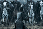 A documentary on Game of Thrones' latest episode reveals this shot featuring stampeding horses running towards Jon Snow was done without CGI.