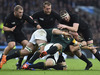 All Blacks lock Brodie Retallick blocks South Africa's flanker Francois Louw. Photo / Getty