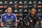 All Blacks Beauden Barrett on his selection at starting 1st-five and halfback Aaron Smith on playing his 50th test against Wales in Dunedin.