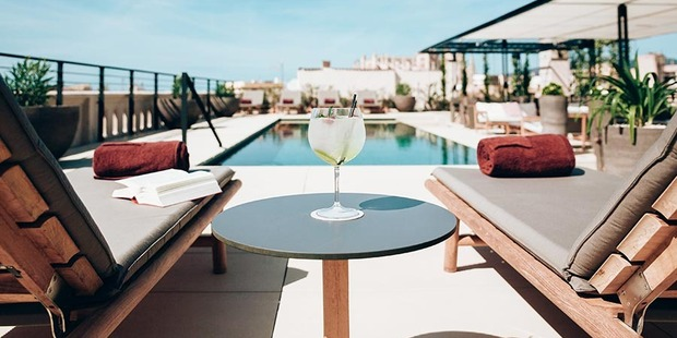 You had us at rooftop pool. Photo / Sant Francesc Hotel Singular