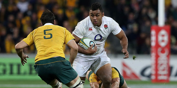 Billy Vunipola charges upfield. Photo / Getty Images