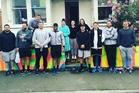 Otago students Dani Gray, Olivia Macaulay, and Sara Hutton gave All Blacks Dane Coles, Joe Moody, Nathan Harris, Wyatt Crockett, Seta Tamanivalu, Tawera Kerr-Barlow, Beauden Barrett, Kieran Read and Sam Cane a tour of their Hyde St flat.