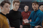 Anton Yelchin with his Star Trek co-stars in the first rebooted Star Trek film. Photo / Paramount