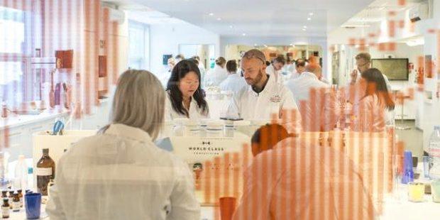Liquid scientists hard at work in Diageo's innovation lab.
