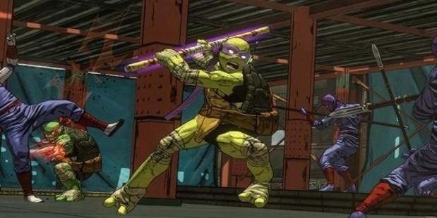 A screenshot from the game Teenage Mutant Ninja Turtles: Mutants in Manhattan.