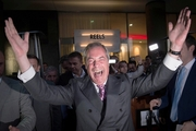UKIP Party leader Nigel Farage was the moving force behind the Brexit campaign. Photo / AP