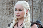 Actress Emilia Clarke as Daenerys Targaryen in the TV show Game of Thrones.