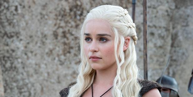 Loading Actress Emilia Clarke as Daenerys Targaryen in the TV show Game of Thrones.