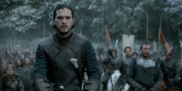 Kit Harington plays Jon Snow in a scene from Game of Thrones. Photo / HBO