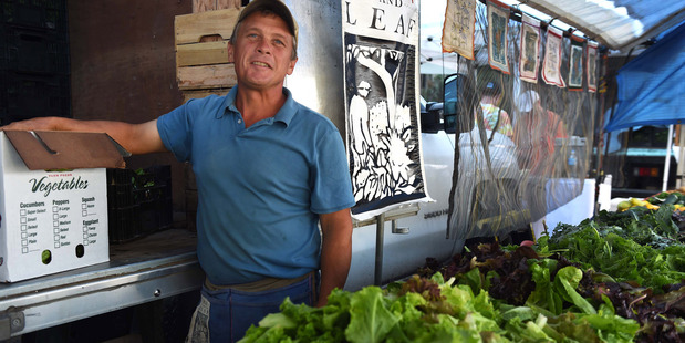 Zach Lester, the owner of Tree and Leaf Farm in Virginia, United States, says sales are down in recent years as customers are drawn to prepared food. Photo / Washington Post