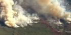 Watch: Watch: Fire rips through California canyons