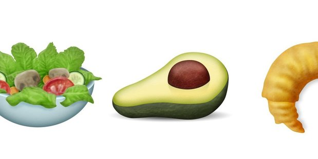 Salad, avocado and croissant are among the new food emojis.