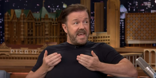 Ricky Gervais tackles celebrity impressions with Jimmy Fallon.