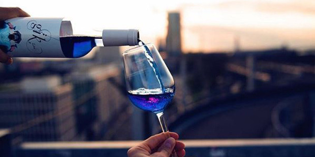 Would you try blue wine? Photo / Instagram / giklive