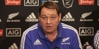 Watch: Watch: All Blacks coach Steve Hansen discusses selection against Wales in Dunedin
