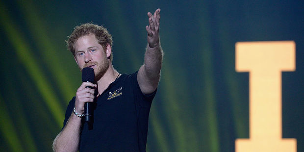 Prince Harry during closing of the Invictus Games Orlando 2016. Photo / Getty Images