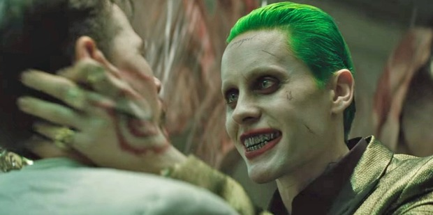 Jared Leto as The Joker in the movie Suicide Squad.