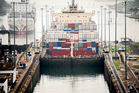 Large freighter going into the first of Gatun Locks in the Panama Canal. Photo / iStock