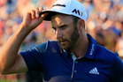 Dustin Johnson of the United States celebrates on the 18th green after winning the U.S. Open. Photo / Getty Images.