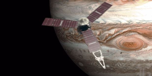 Loading NASA's spacecraft Juno will insert into Jupiter's orbit in 10 days time. Photo / Supplied