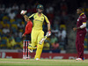 Australian cricketer Mitchell Marsh celebrates their victory during the 8th One Day International match of the Tri-nation Series between Australia and West Indies. Photo / Getty