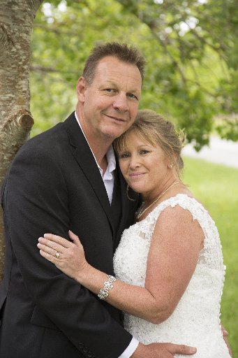 Nick and Jan Saull on their wedding day. Photo / Supplied