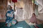 Hamsatu, 25, and Fatima, 3, at the Dalori Internally Displaced Persons Camp in Maiduguri, Nigeria. Both had once been captives of Boko Haram. Photo / Washington Post
