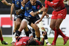 RC Toulon's New Zealand centre Maa Nonu lays on the pitch after a tackle. Photo / Getty Images