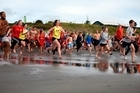 Many braved the chilly waters at the Papamoa Polar Plunge. Photo/George Novak
