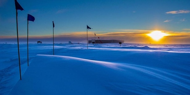The last sunset of the summer at the South Pole, on March 20. Photo / National Oceanic and Atmospheric Administration