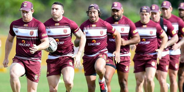 The Queensland Maroons will be looking to take the 2016 series with a win Wednesday night. Photo / Getty Images