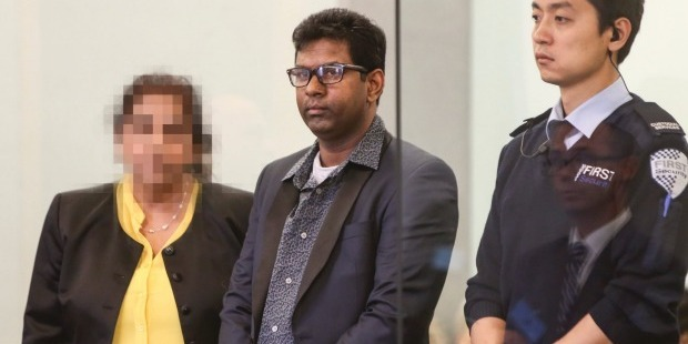 Loading Kamal Reddy in court.