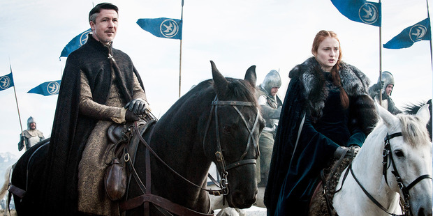 Little Finger and Sansa ride in to save the day. Photo / HBO