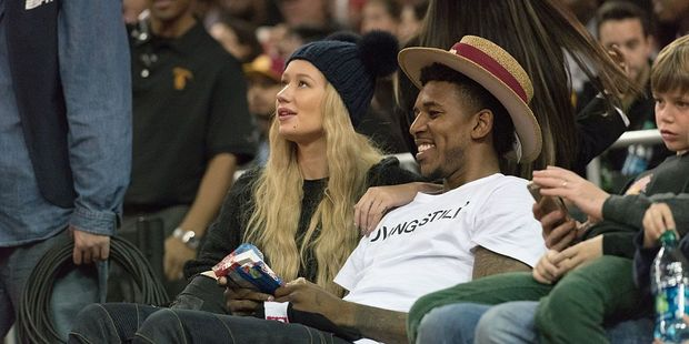 Rapper Iggy Azalea and Nick Young. Photo / Getty Images