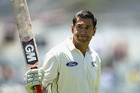 Ross Taylor of New Zealand leaves the ground after being dismissed for 290 runs by Nathan Lyon of Australia. Photo / Getty