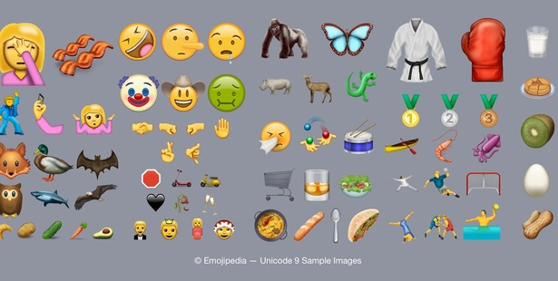 The 72 new emojis available.