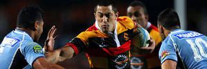 Sam Christie of Waikato on the charge during the round 1 ITM Cup match between Waikato and Northland at Waikato Stadium on August 17, 2013 in Hamilton. Photo / Getty